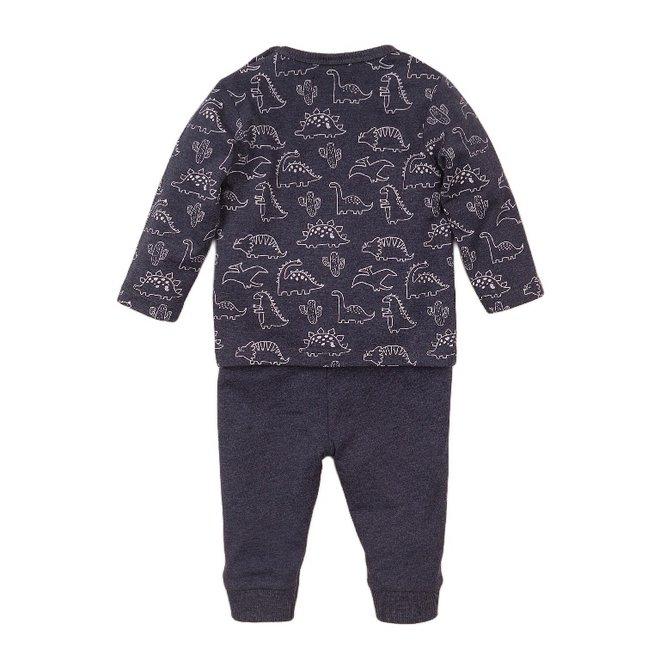 Dirkje boys baby 2 piece set with trousers blue dino