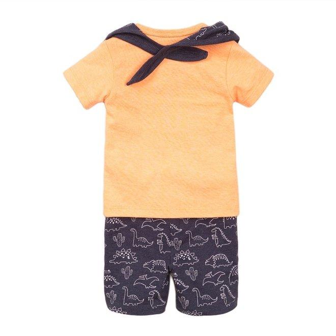 Dirkje Jungen Baby 2 Stück Set mit Shorts orange