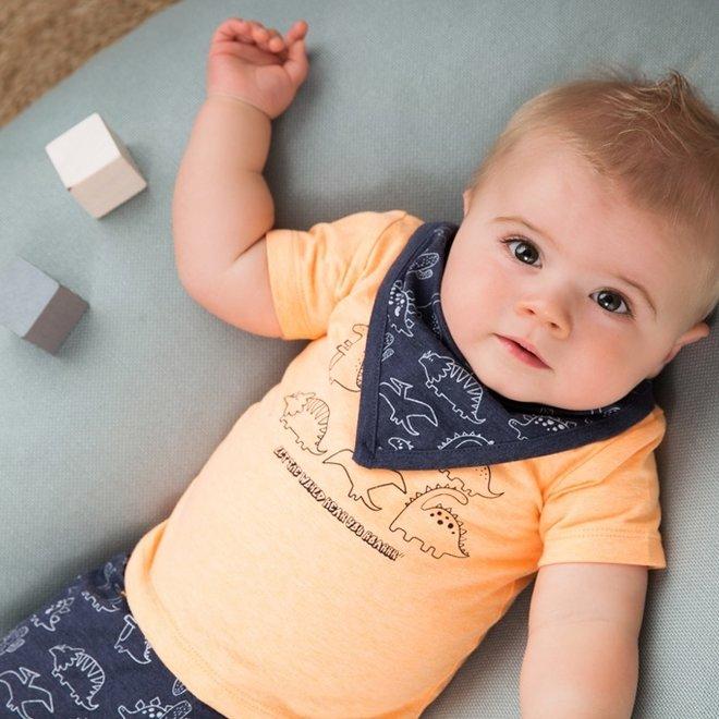 Dirkje jongens baby 2-delige set met short oranje