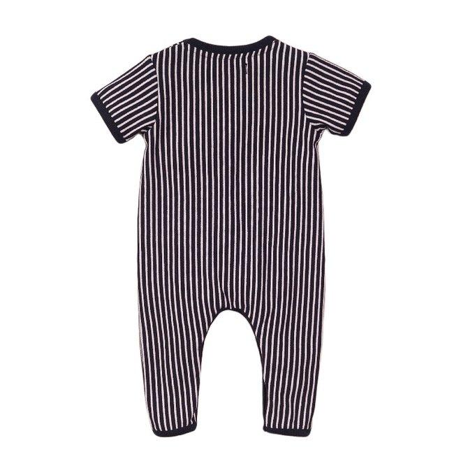 Dirkje Jungen Baby Outfit blau gestreift