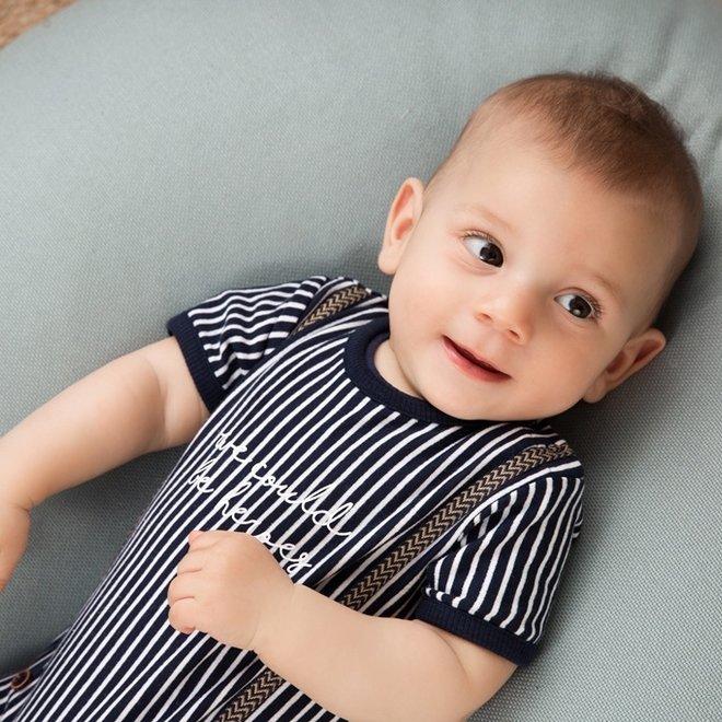 Dirkje boys baby outfit blue stripe