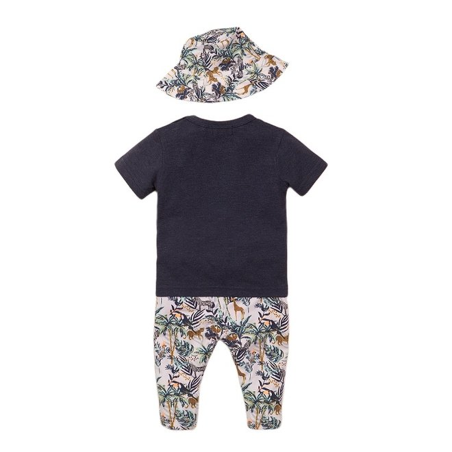 Dirkje jongens baby 2-delige set met broek blauw jungle