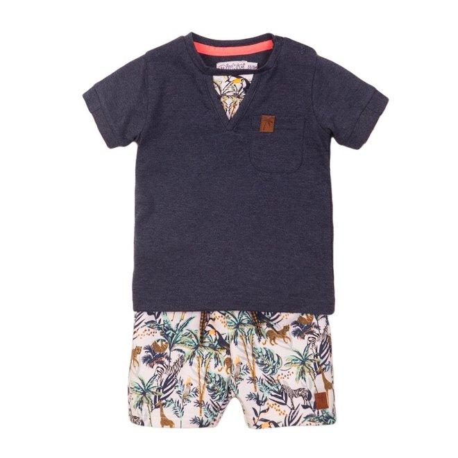 Dirkje boys baby 2 piece set with shorts jungle