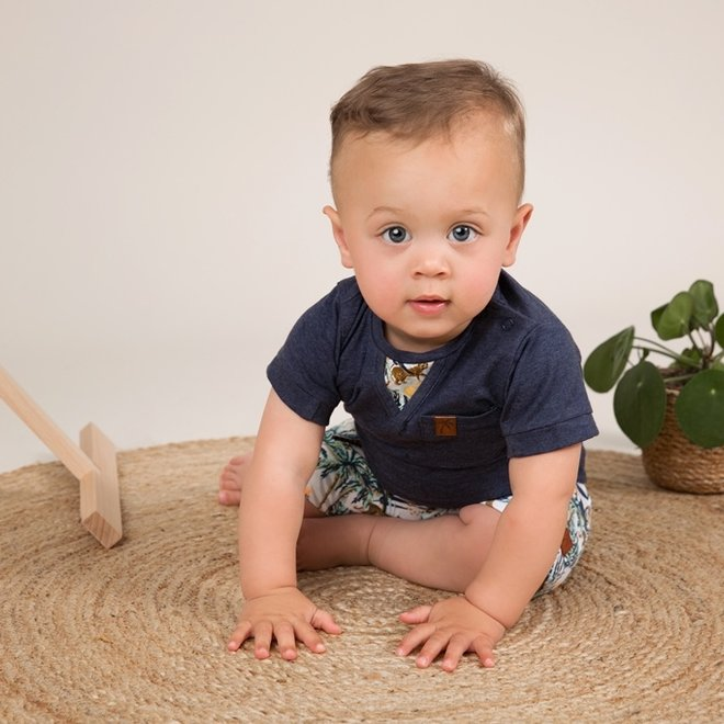 Dirkje Jungen Baby 2 Stück Set mit Shorts Dschungel