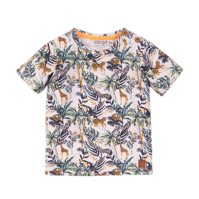 Dirkje boys T-shirt white jungle