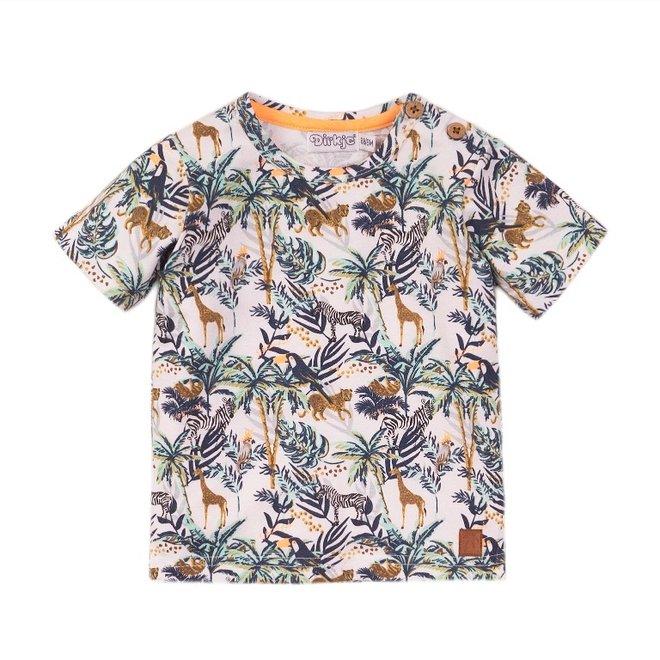 Dirkje Jungen T-shirt weiß Dschungel