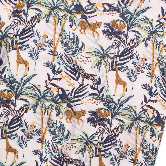 Dirkje jongens T-shirt wit jungle