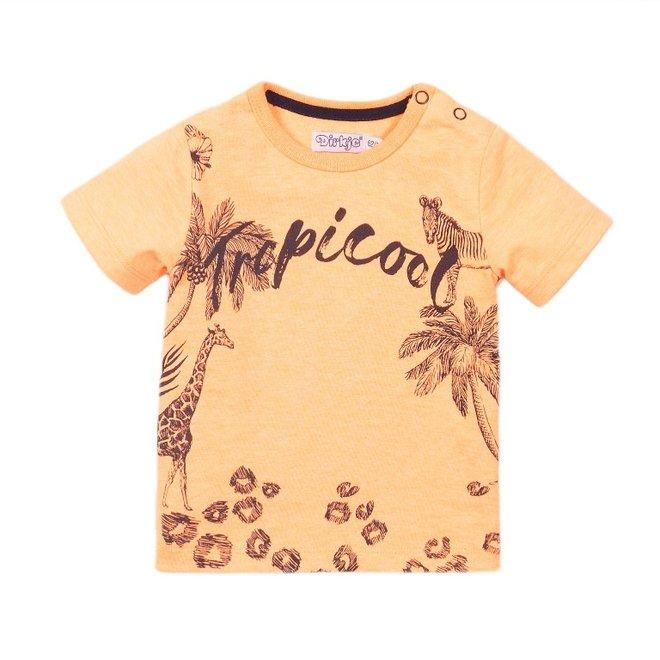 Dirkje jongens T-shirt neon oranje
