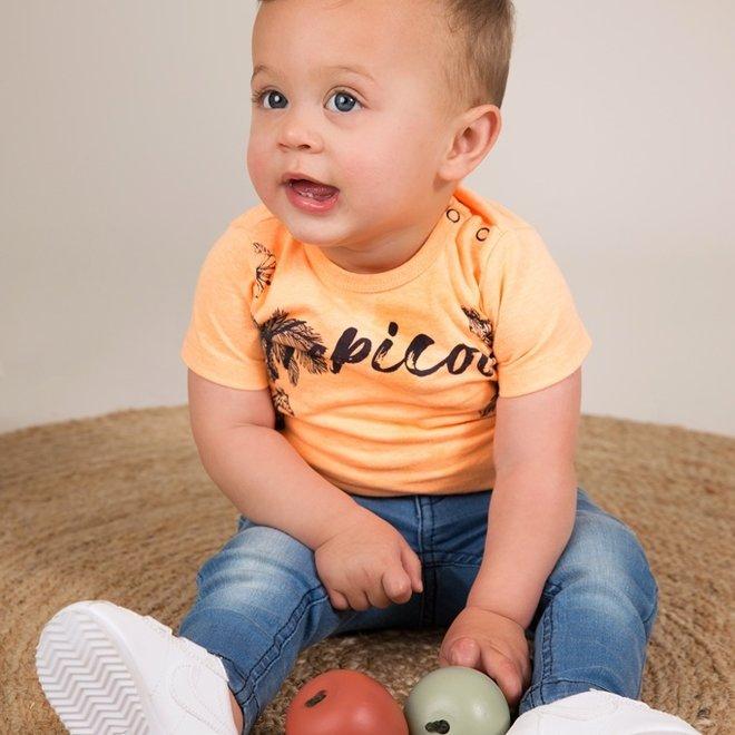 Dirkje Jungen Neon-T-Shirt orange