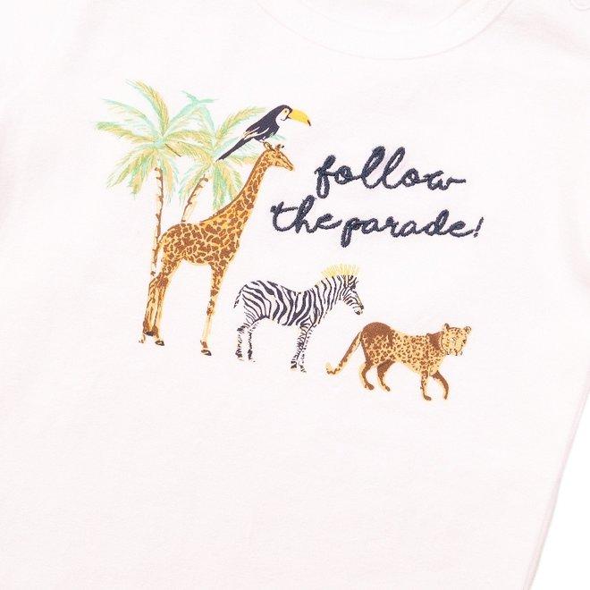 Dirkje jongens T-shirt wit parade