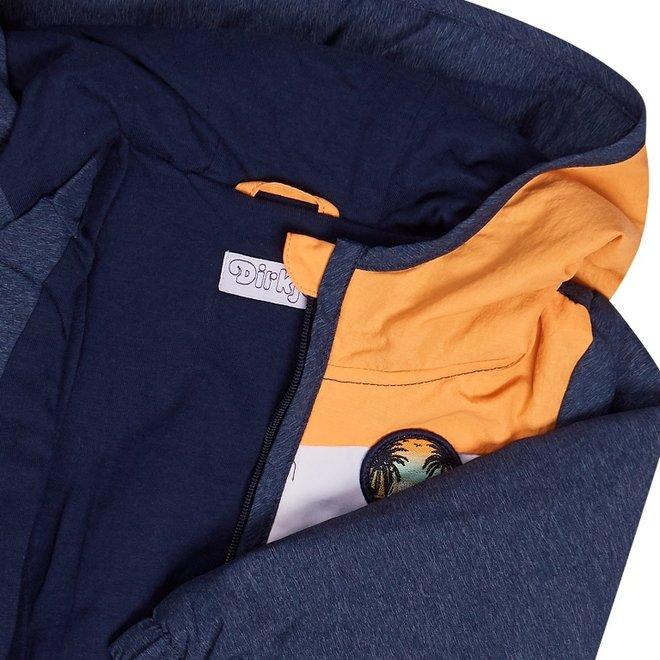 Dirkje boys jacket blue with hood