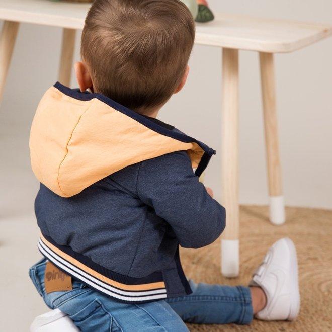 Dirkje Jungen Jacke blau mit Kapuze