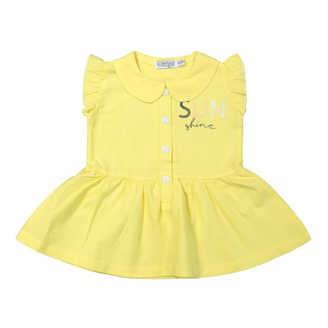 Dirkje girls dress yellow