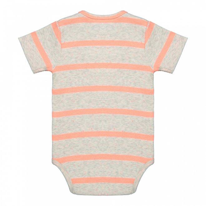 Dirkje girls baby romper beige stripe