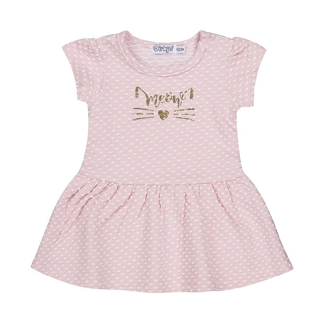 Dirkje Mädchen Baby Kleid rosa Punkt