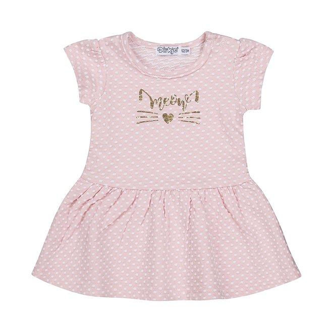 Dirkje meisjes babyjurkje roze stip