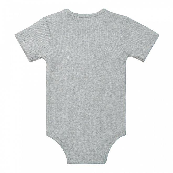 Dirkje Jungen Baby Strampler grau melange