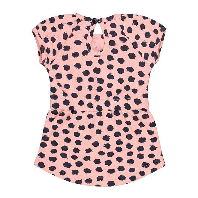 Dirkje Mädchen Baby Kleid rosa navy
