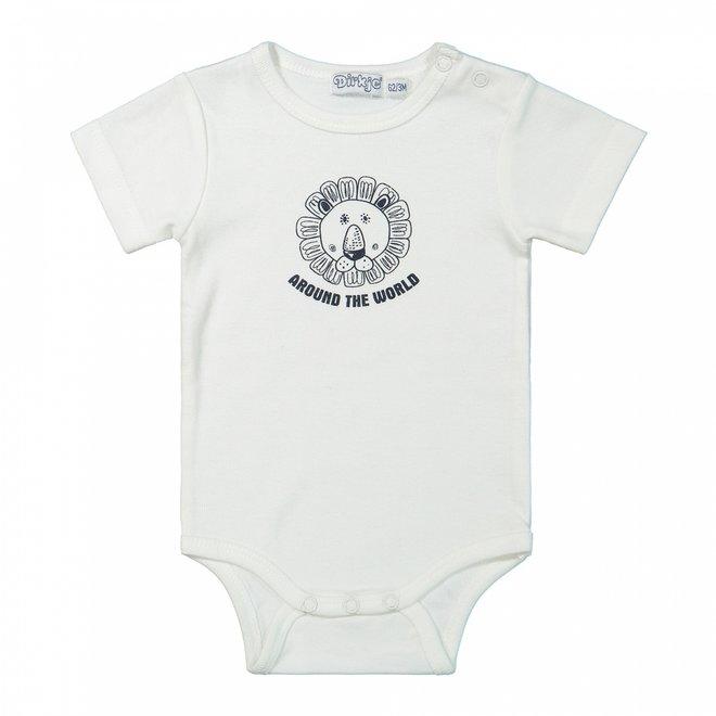 Dirkje boys baby bodysuit white