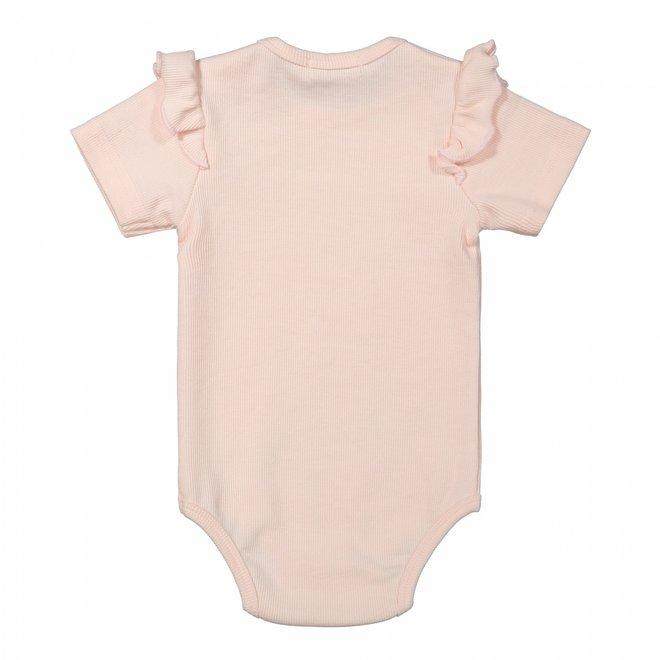Dirkje Mädchen Baby Strampler rosa Rüsche