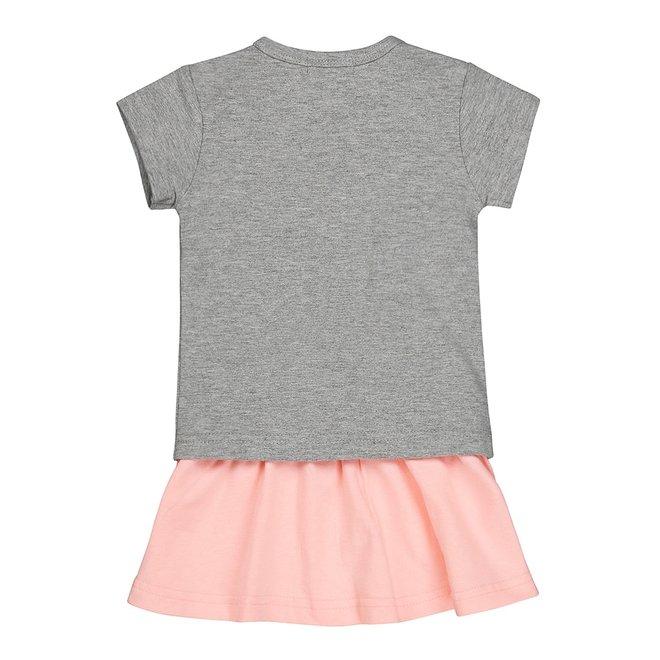 Dirkje Mädchen 2-teiliges Set grau und rosa
