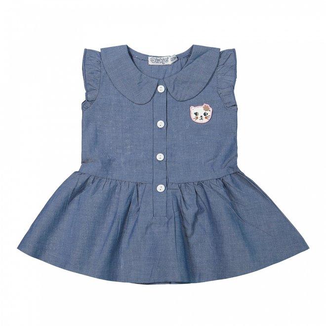 Dirkje meisjes baby jurkje jeans blue