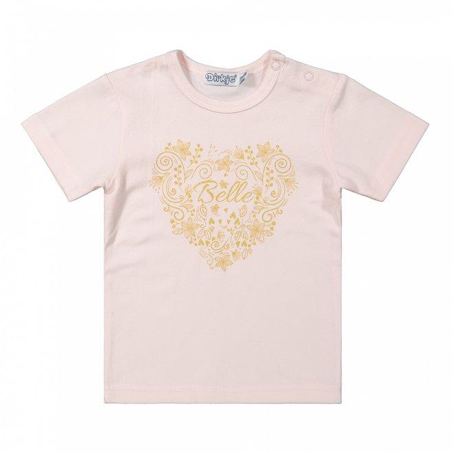 Dirkje meisjes baby T-shirt roze
