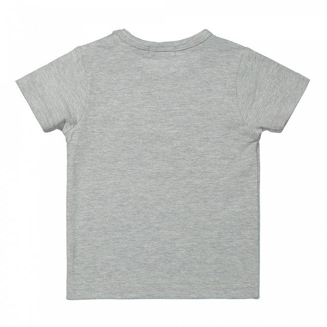 Dirkje jongens baby T-shirt grijs wilde dieren