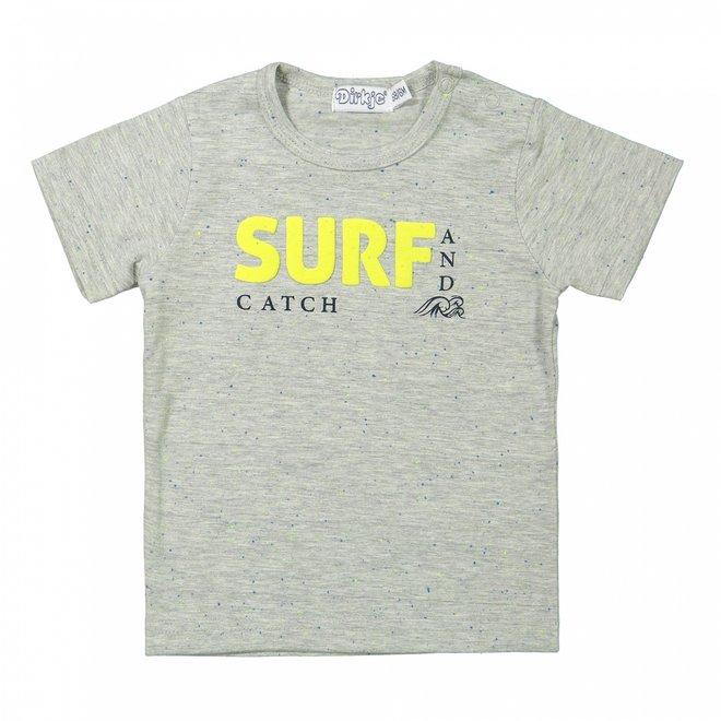 Dirkje jongens baby T-shirt grijs surf