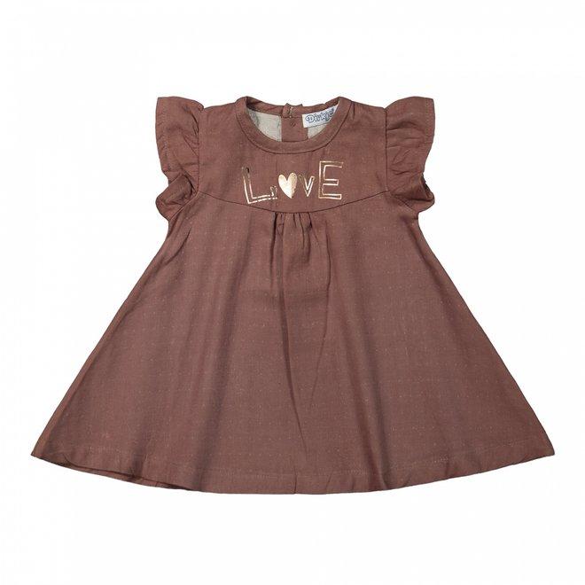 Dirkje Mädchen Kleid braun