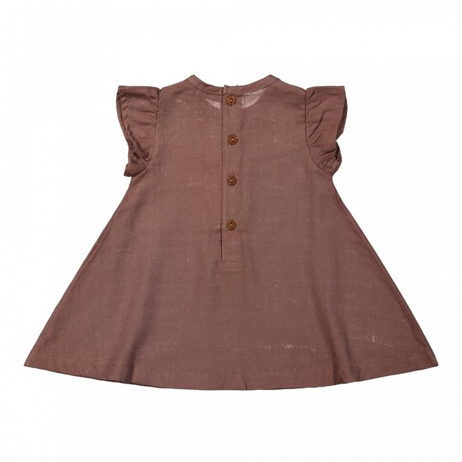 Dirkje girls dress brown