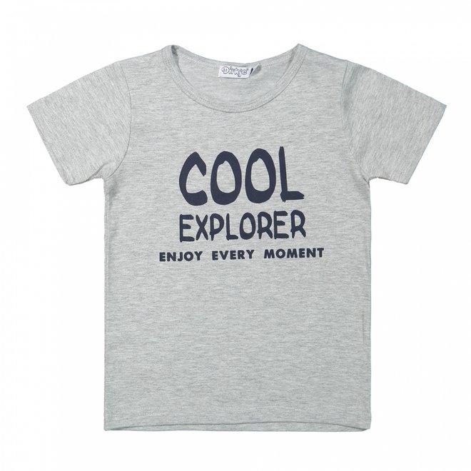 Dirkje boys T-shirt grey cool explorer