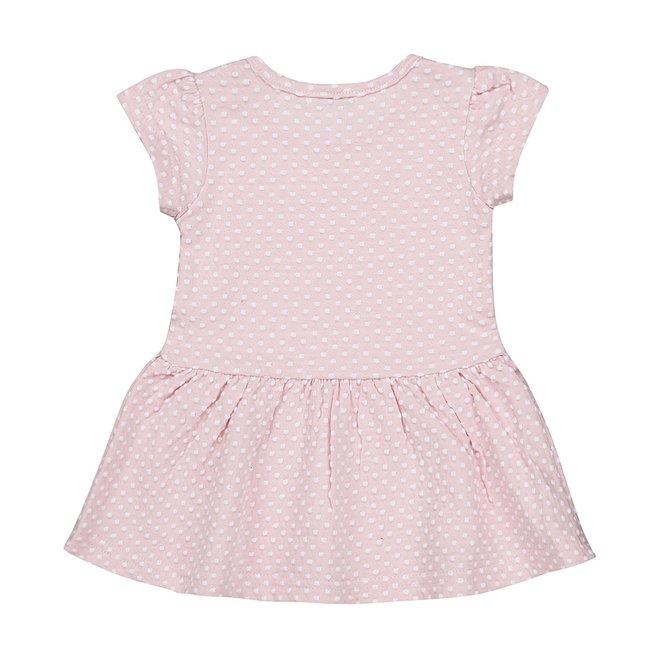 Dirkje girls baby dress pink dot