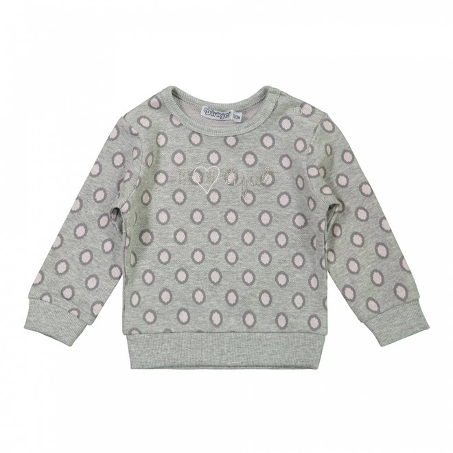 Dirkje girls jumper grey