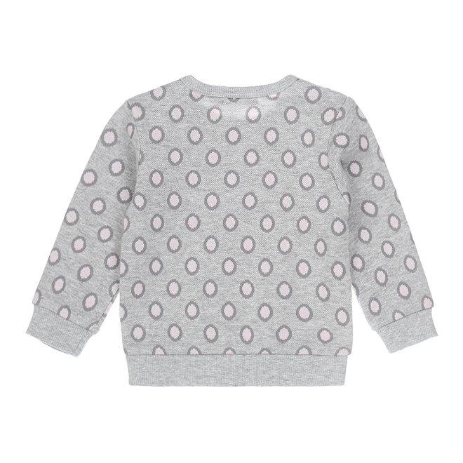 Dirkje meisjes sweater grijs stip
