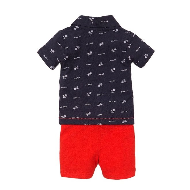 Dirkje jongens baby 2-delige set met short en polo