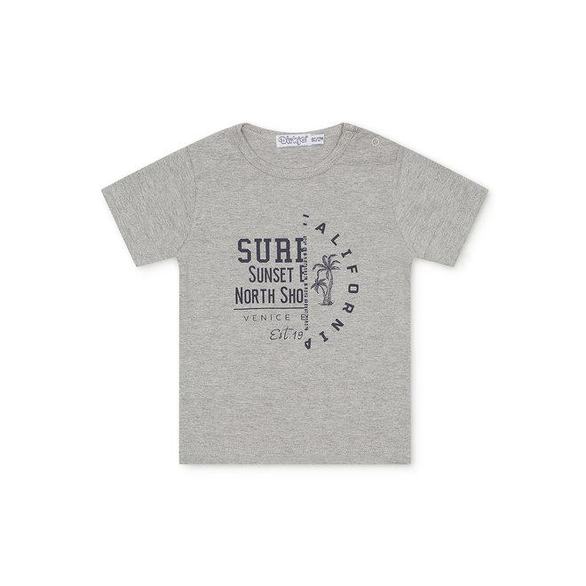 Dirkje jongens baby T-shirt grijs