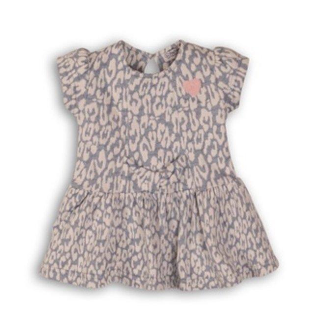 Dirkje baby girl dress light blue panther pattern