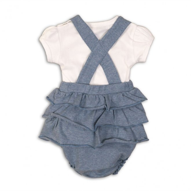 Dirkje baby girls 2-piece set jumpsuit light blue rushes