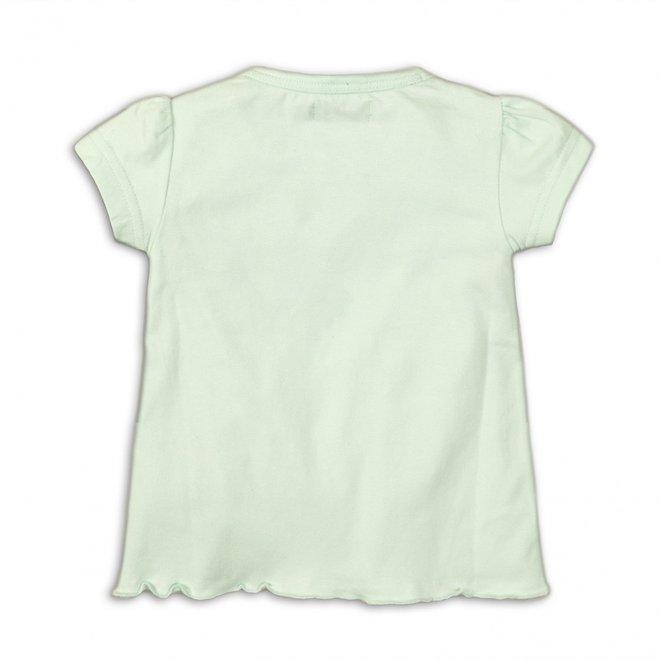 Dirkje meisjes T-shirt mintgroen met pantergezichtjes