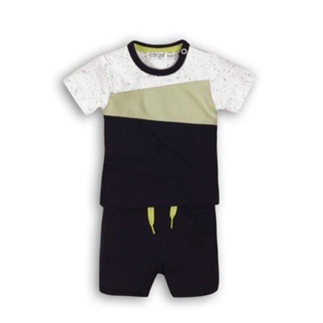 Dirkje boys baby 2 piece set mint green blue T-shirt with shorts