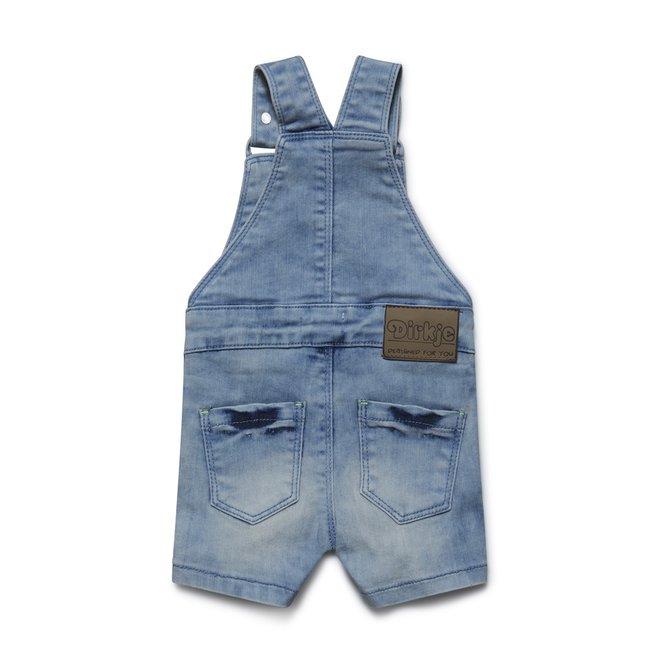 Dirkje boys jeans blue dungarees short