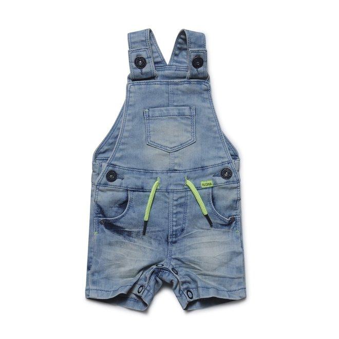 Dirkje jongens jeans blauw tuinbroekje kort model