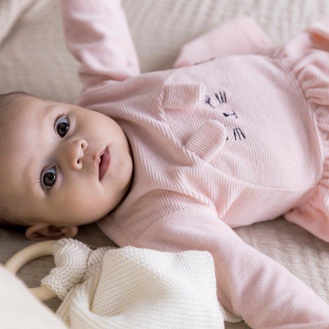Dirkje meisjes baby set jurkje met legging lichtroze