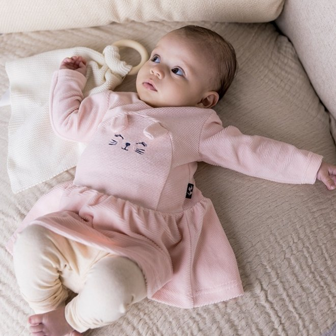Dirkje girls baby set dress with legging light pink
