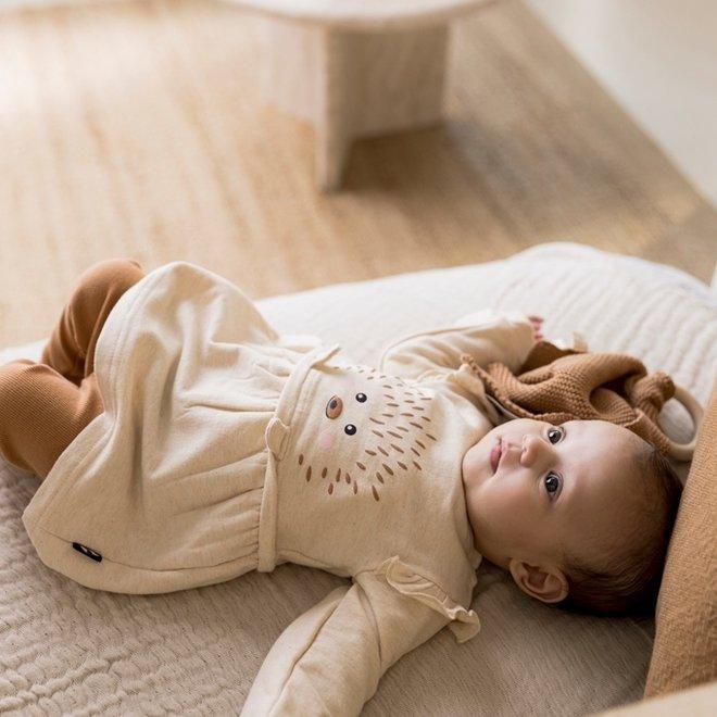 Dirkje girls baby set dress with legging beige