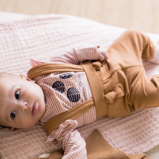 Dirkje girls baby set shirt with trousers pink camel