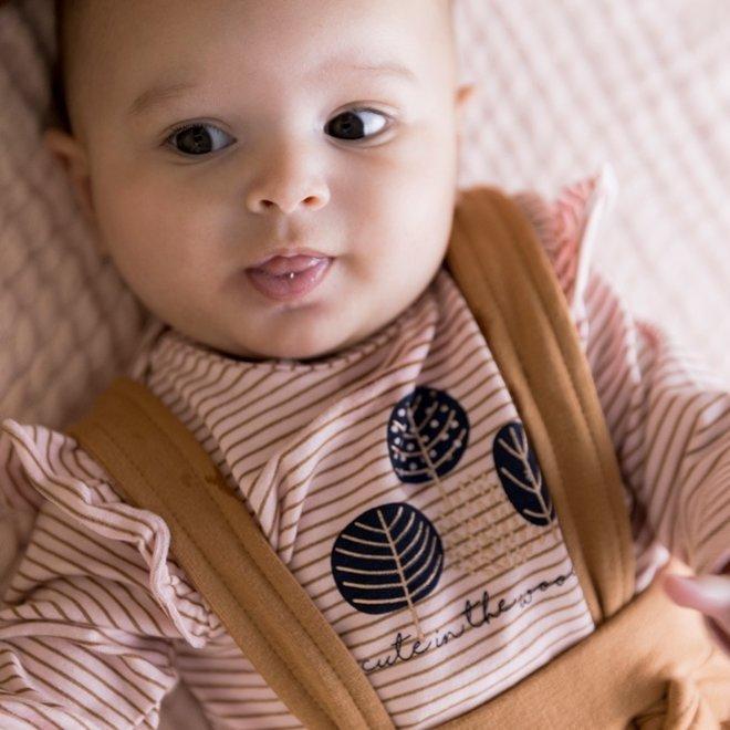 Dirkje meisjes baby set shirt met broek roze camel