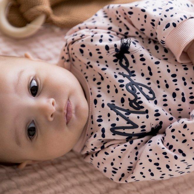 Dirkje Mädchen Baby Set Kleid mit Leggings rosa und blau