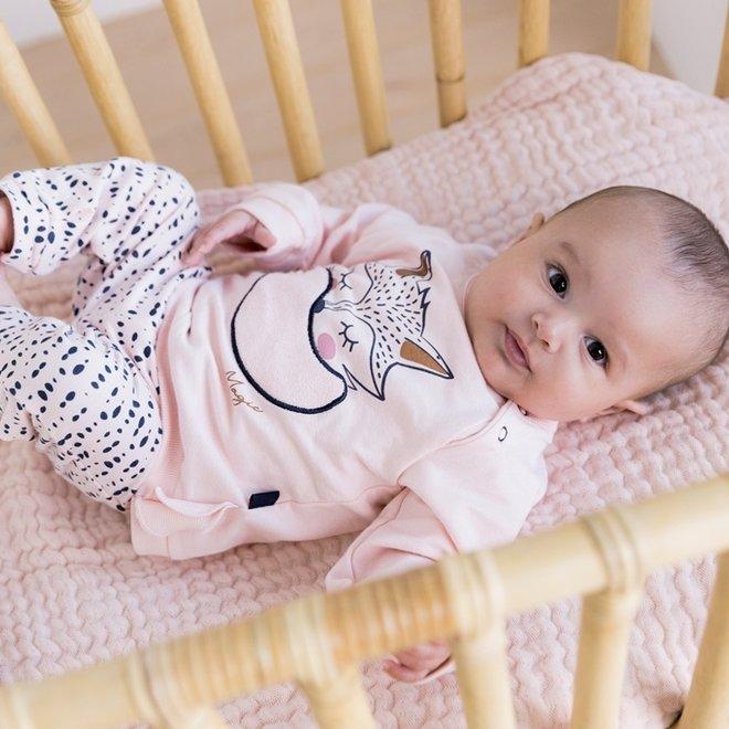 Dirkje girls baby set jumper with trousers pink